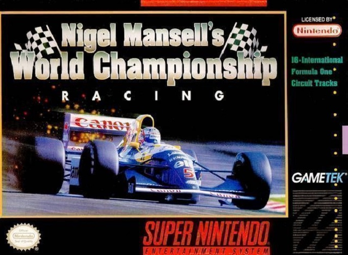 Nigel Mansell's World Championship Racing For Super Nintendo SNES With Manual An