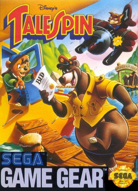 Tale Spin For Sega Game Gear Vintage