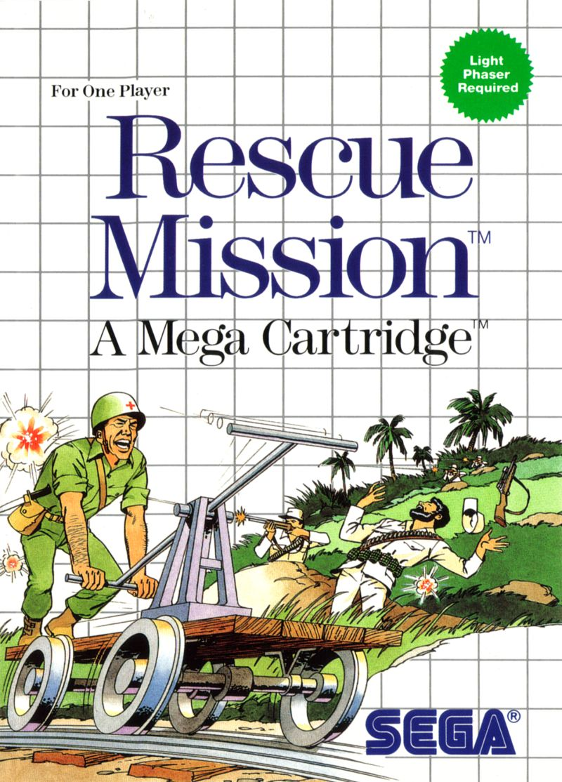 Rescue Mission System For Sega Master Vintage