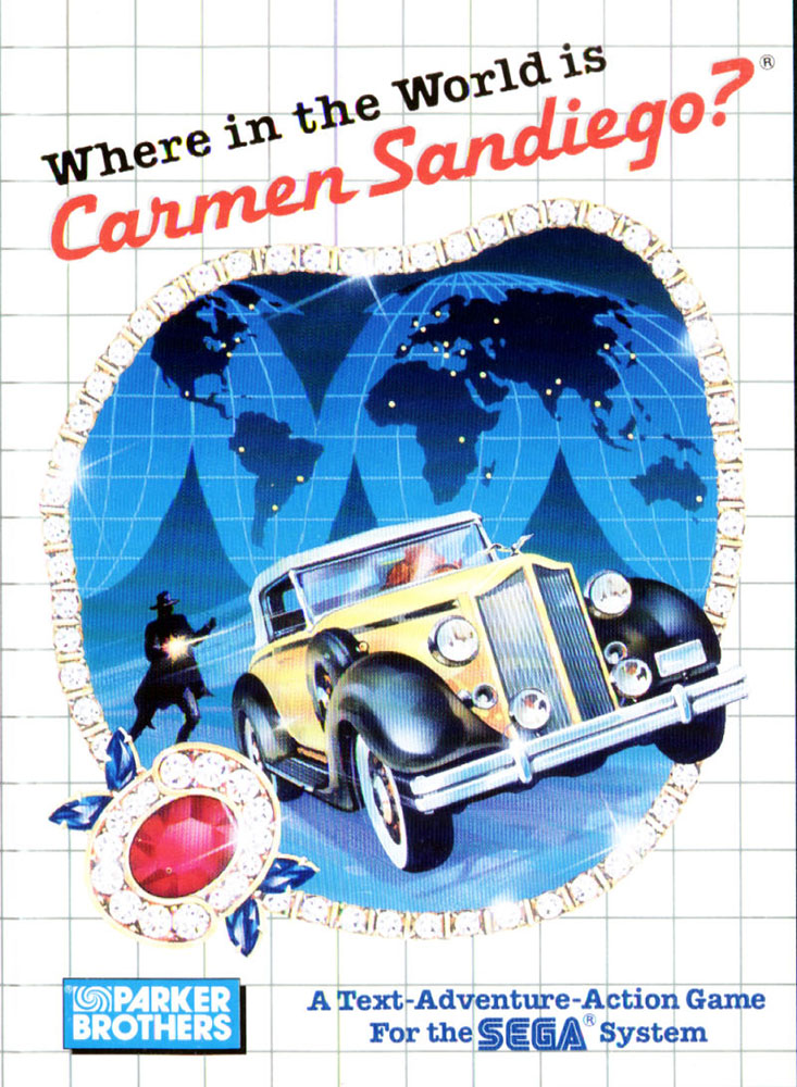 Where In The World Is Carmen Sandiego System For Sega Master Vintage With Manual