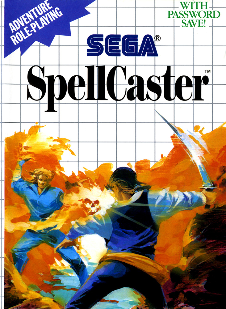 SpellCaster System For Sega Master Vintage RPG With Manual and Case