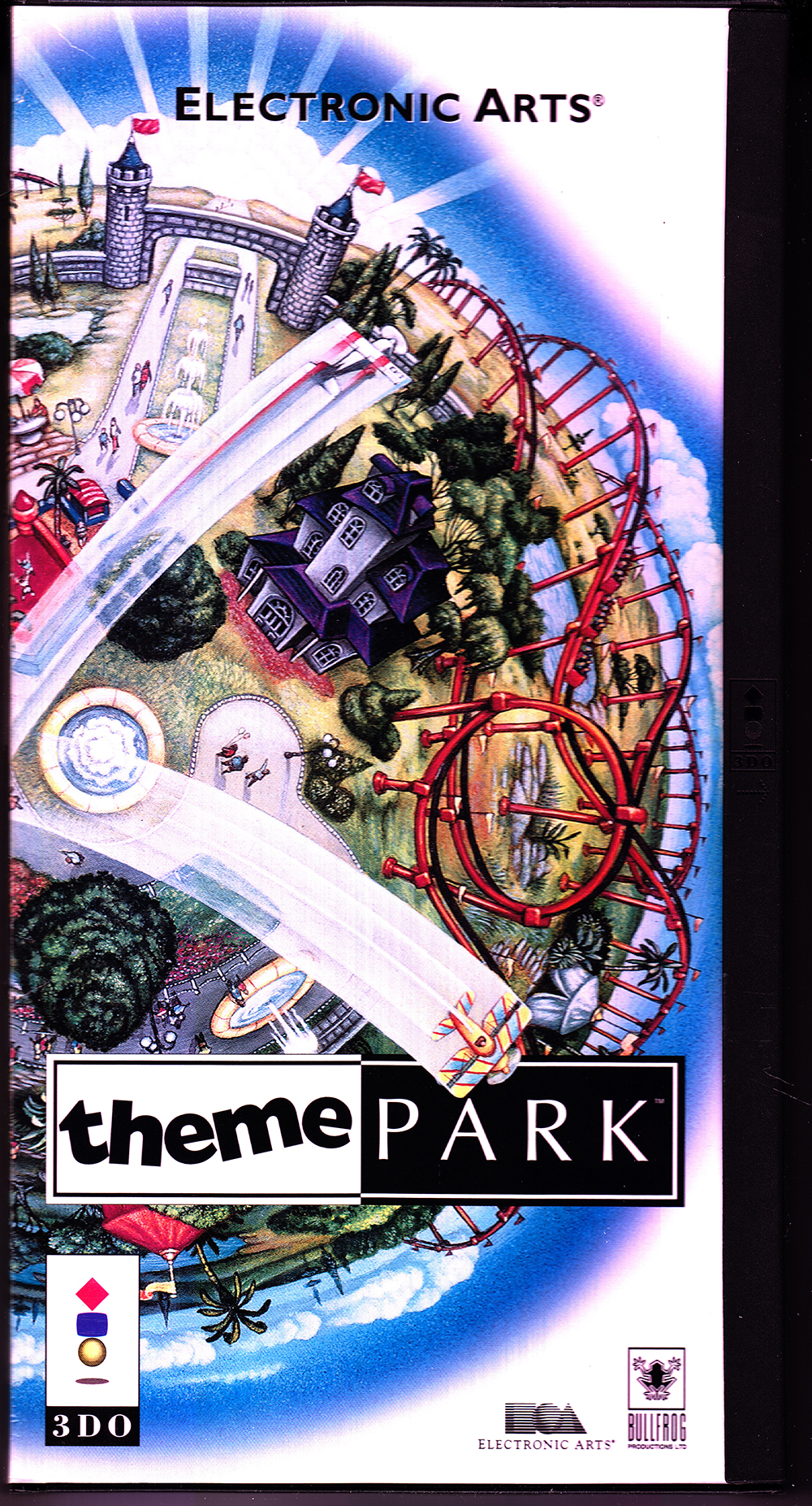 Theme Park For 3DO Vintage With Manual and Case