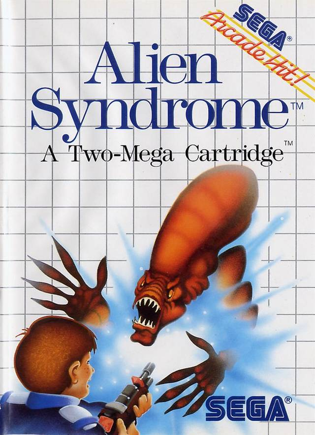 Alien Syndrome For Sega Master Vintage With Manual And Case