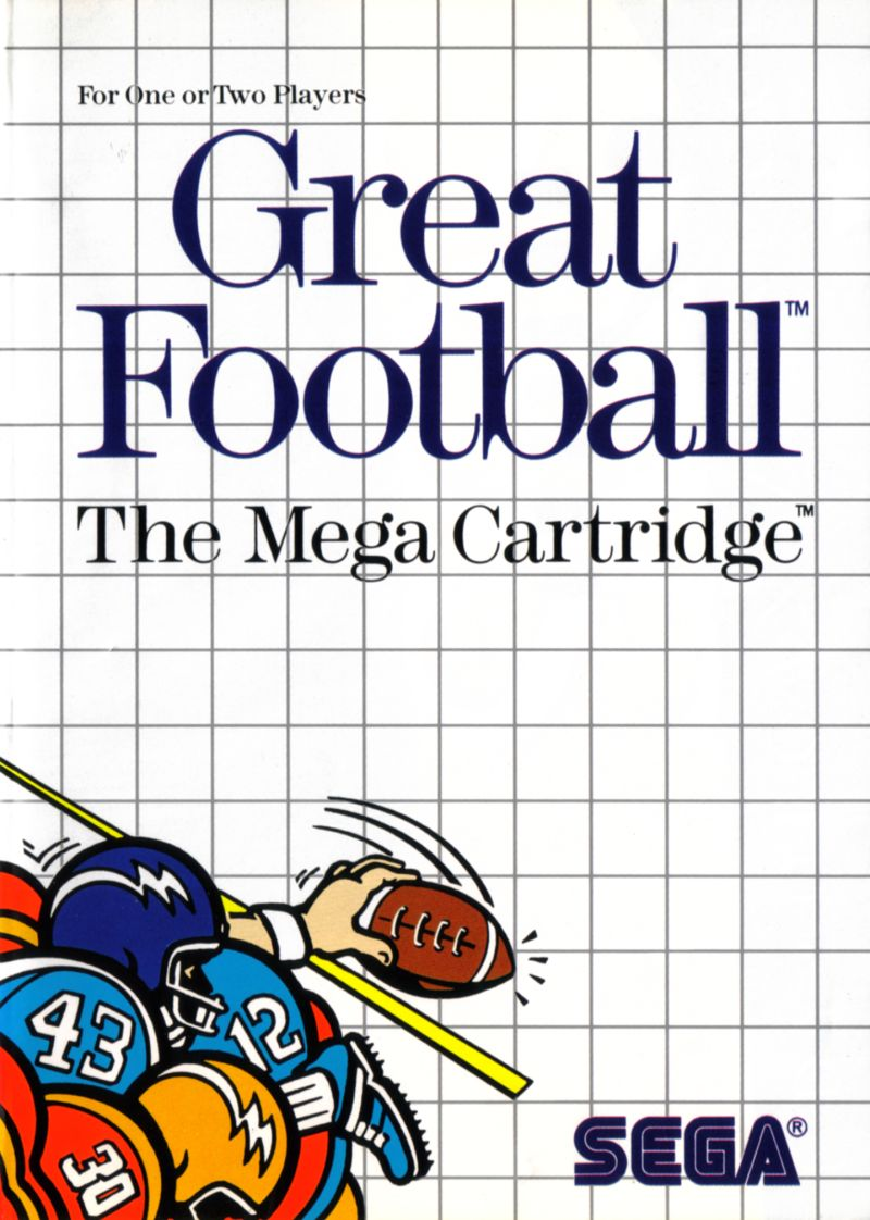 Great Football The Mega Cartridge For Sega Master Vintage