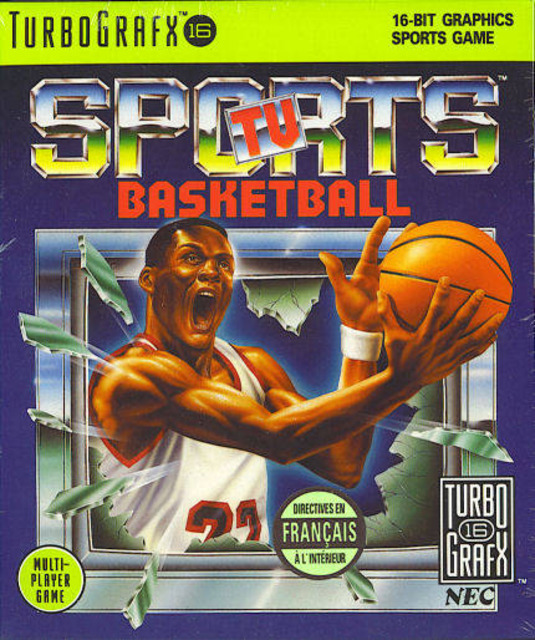 TV Sports Basketball TG16 For Turbo Grafx 16 Vintage