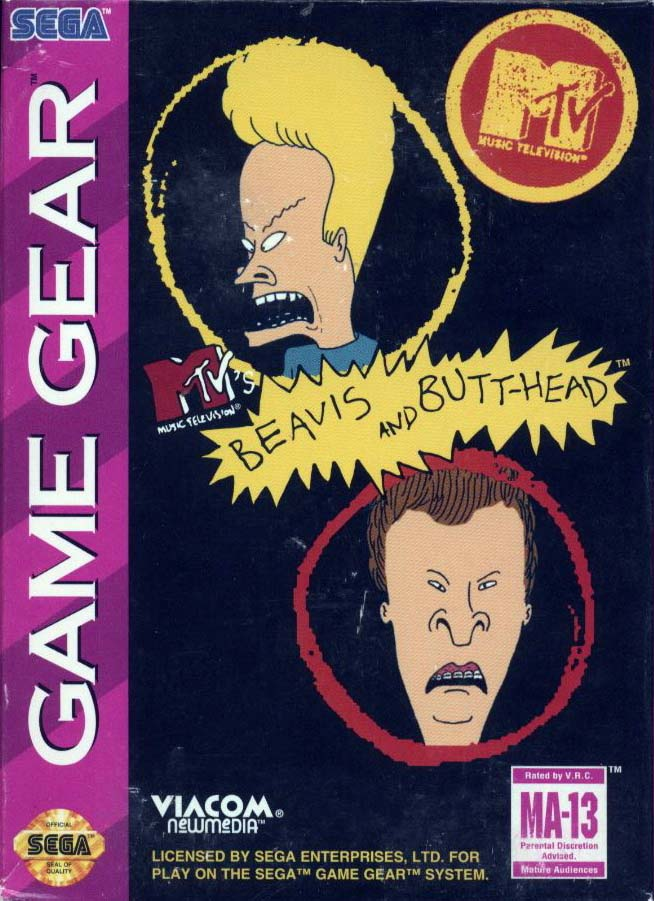 Beavis & Butthead Game Gear For Sega Game Gear Vintage