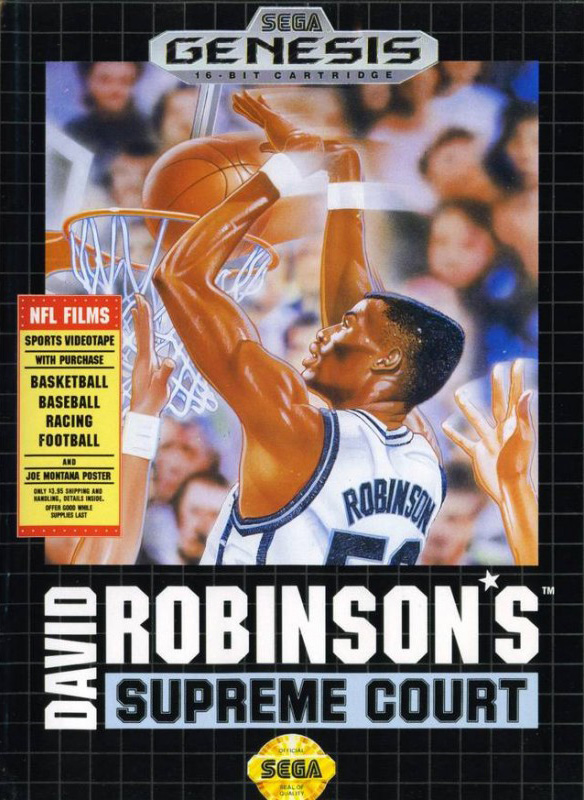 David Robinson's Supreme Court For Sega Genesis Vintage