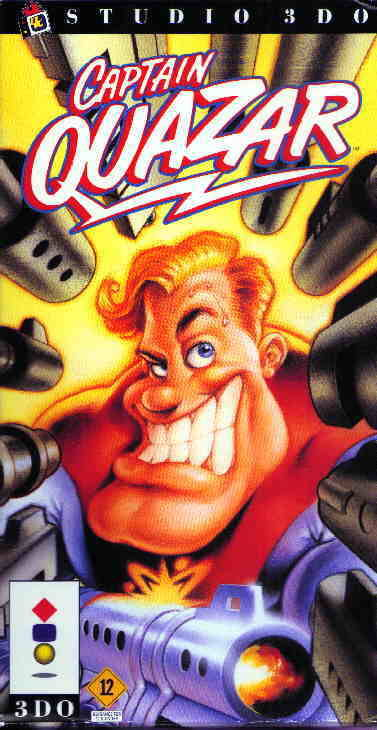 Captain Quazar For 3DO Vintage Shooter With Manual And Case