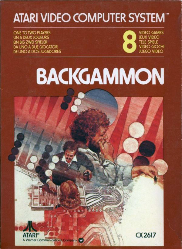Backgammon For Atari Vintage