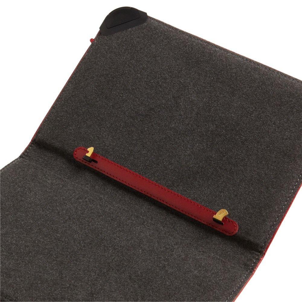 Kindle Lighted Leather Cover Burgundy Red Fits Kindle