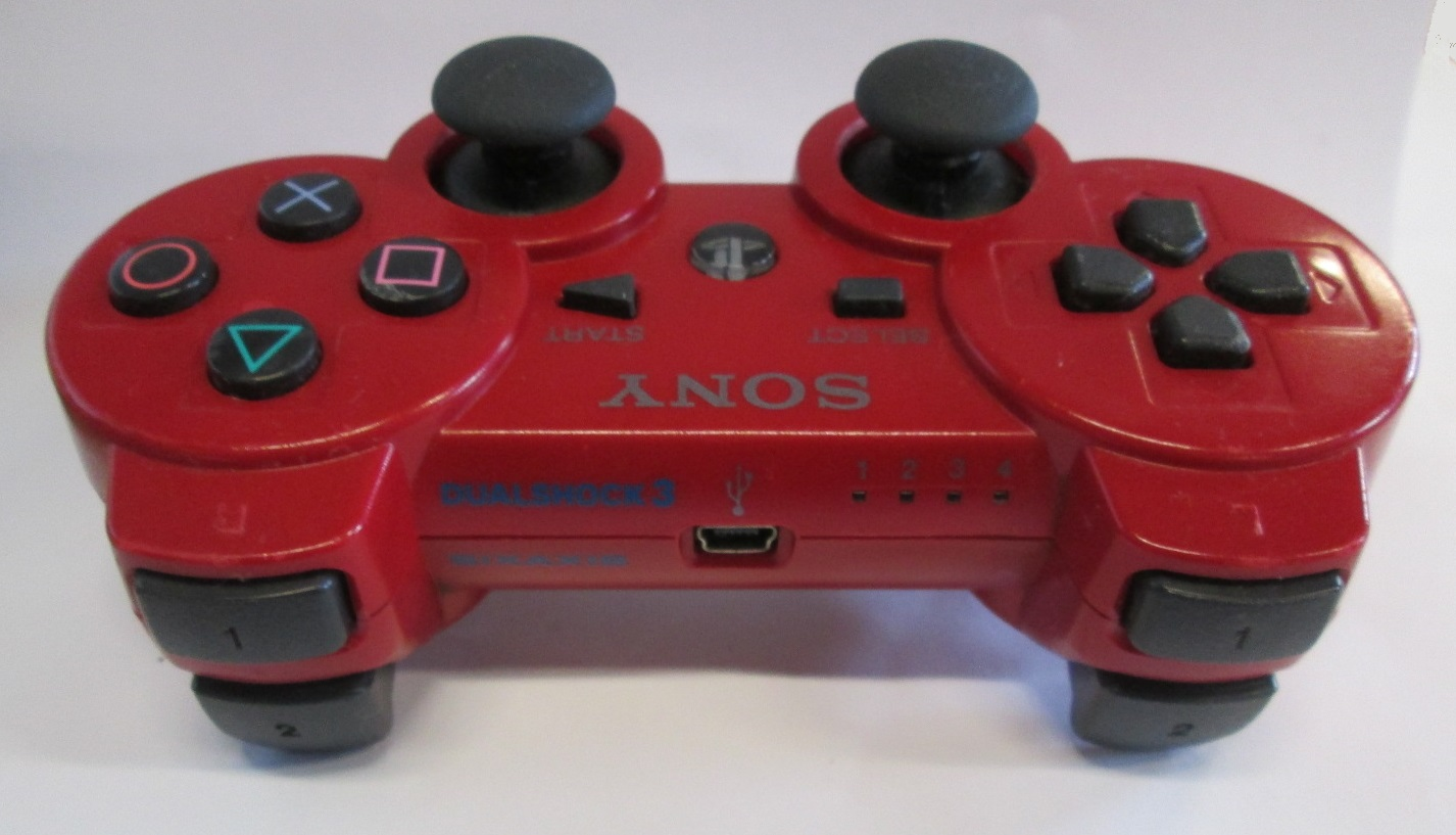 Image 2 of Sony OEM PS3 Dualshock 3 Controller Red For PlayStation 3