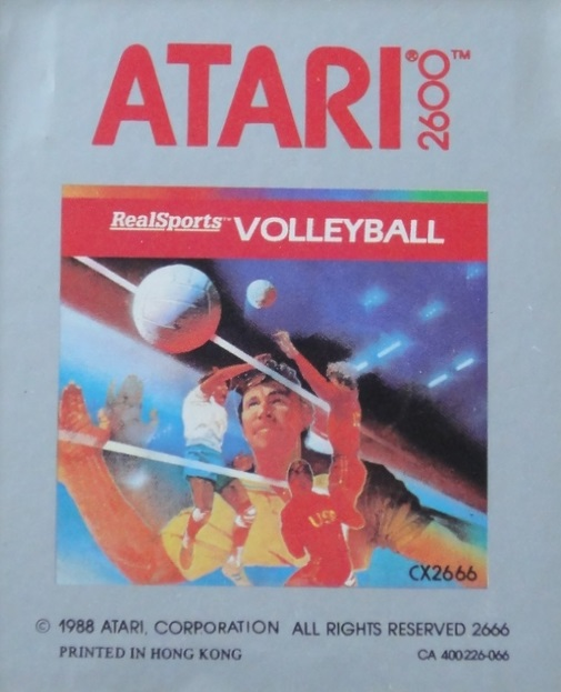 2600 Game Cartridge Real Sports Volleyball For Atari Vintage With Manual