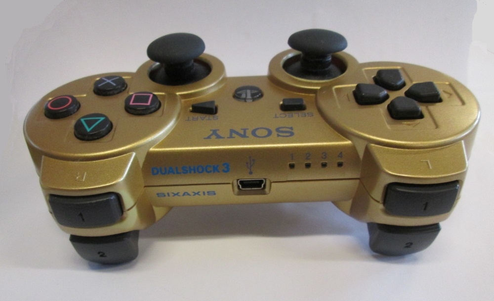 Image 2 of Sony OEM Metallic Gold PS3 Dualshock 3 Wireless Controller For