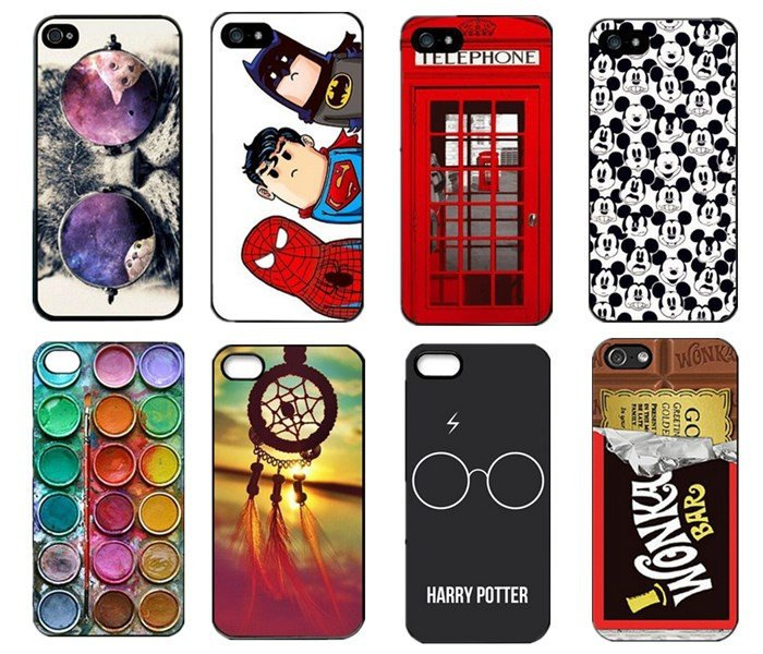 Random Lot Of Five 5X Cell Phone Cases