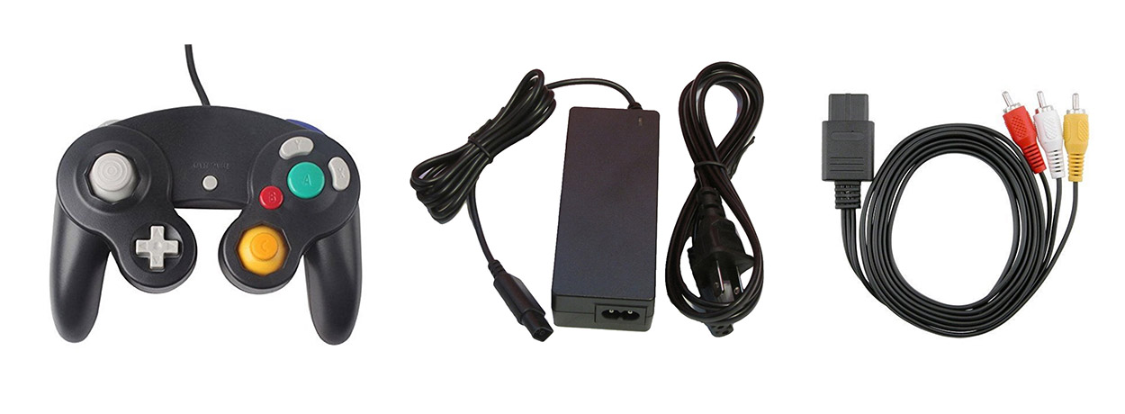 GameCube Parts Bundle Controller Power Adapter And AV Cable By Mars Devices