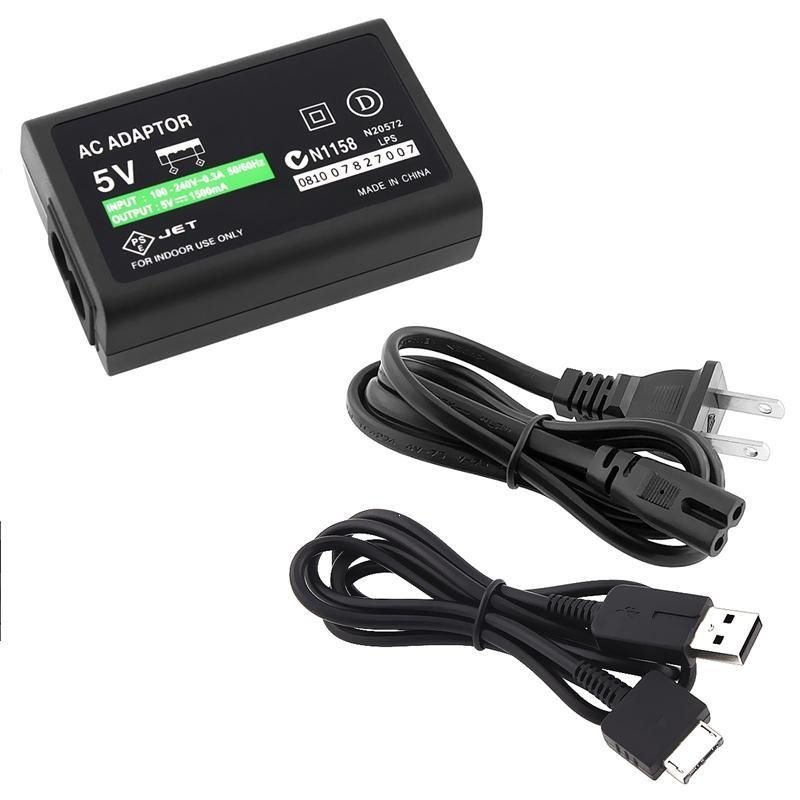 Charger For Sony US Plug AC Wall Adapter USB Cable Power Ps For Ps Vita