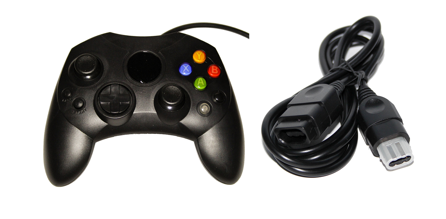 Black Xbox Original Controller Bundle Controller And Extension Cable By Mars Dev