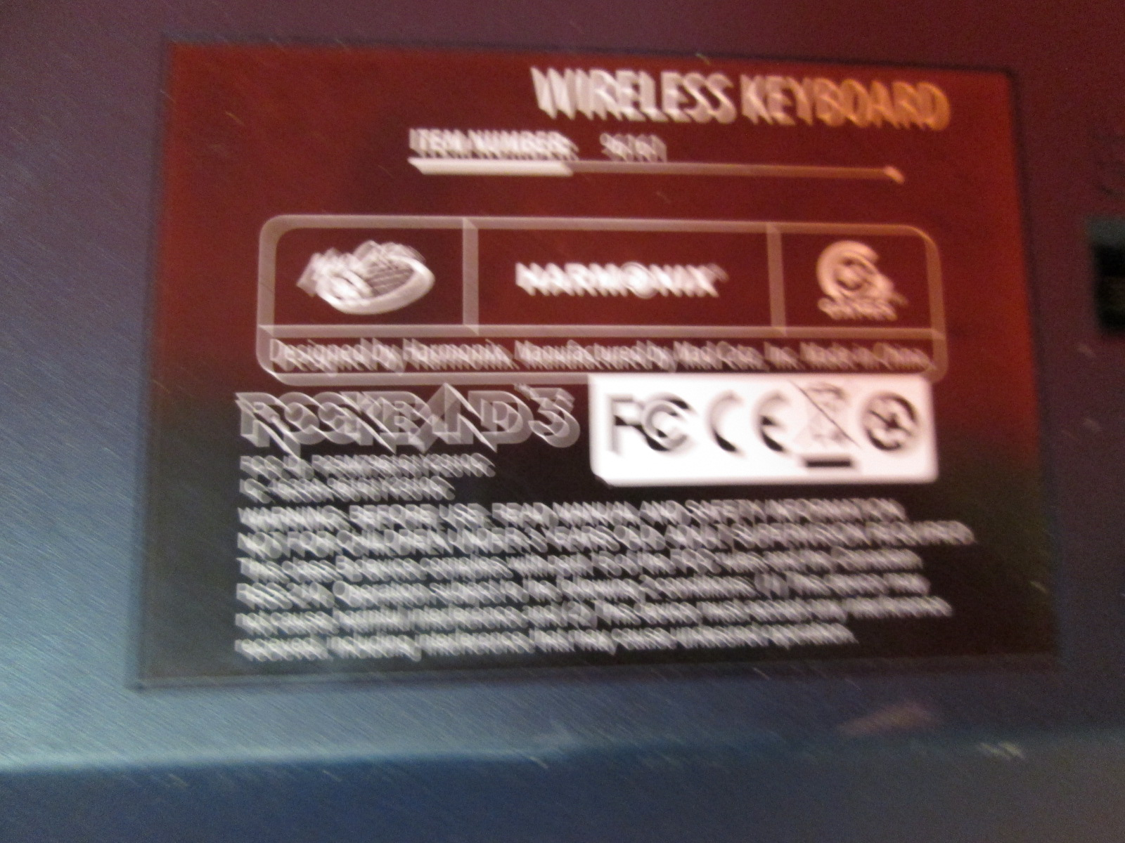 Image 1 of Mad Catz Rock Band 3 Wireless Keyboard For PlayStation 3 Incomplete