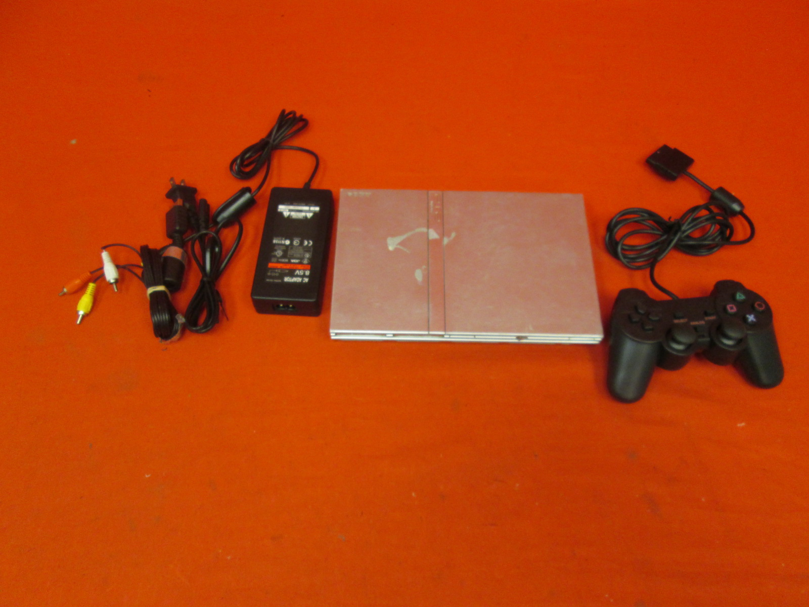 Image 0 of PlayStation 2 Slim Silver Video Game Console With Controller