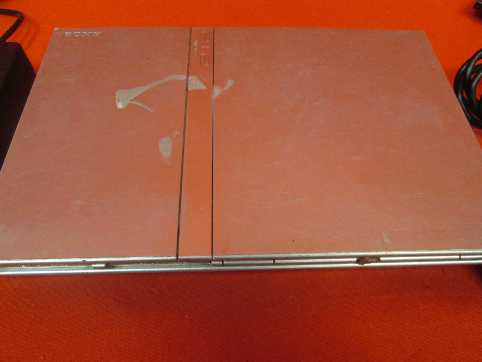 Image 1 of PlayStation 2 Slim Silver Video Game Console With Controller