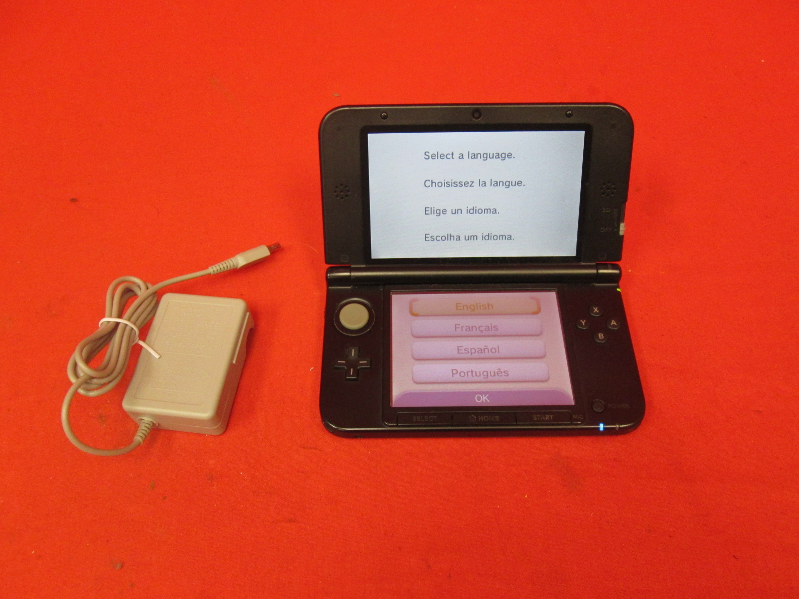 Nintendo 3DS XL Red/black Handheld Console