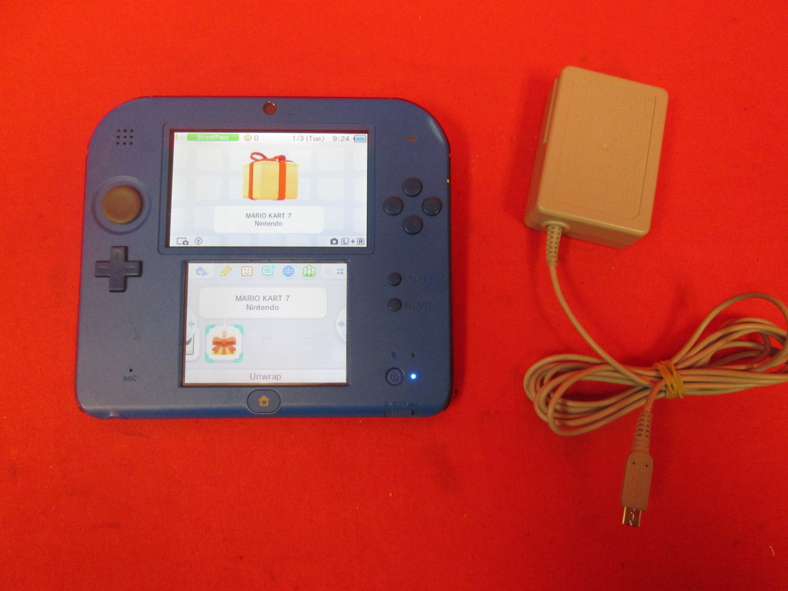 Nintendo 2DS Electric Blue 2 Handheld Portable Console With With Mario