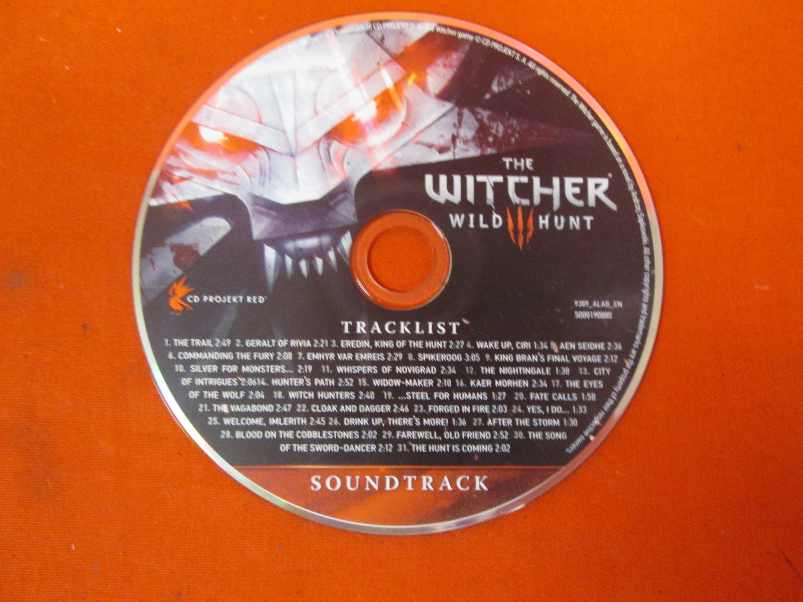 The Witcher 3 Wild Hunt Soundtrack Disc Only On Audio CD