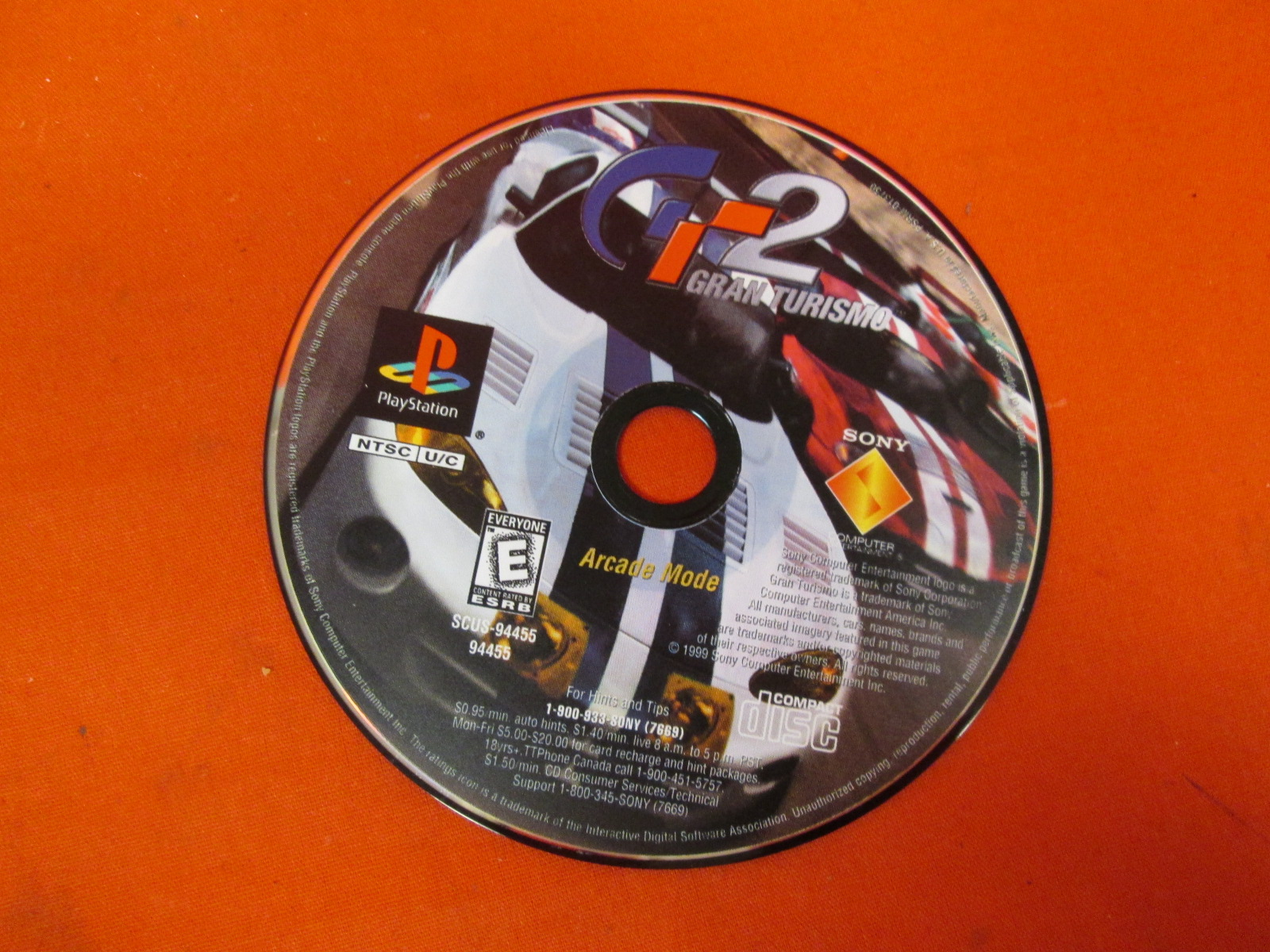 Replacement Arcade Mode Disc Only For Gran Turismo G-2 For PlayStation