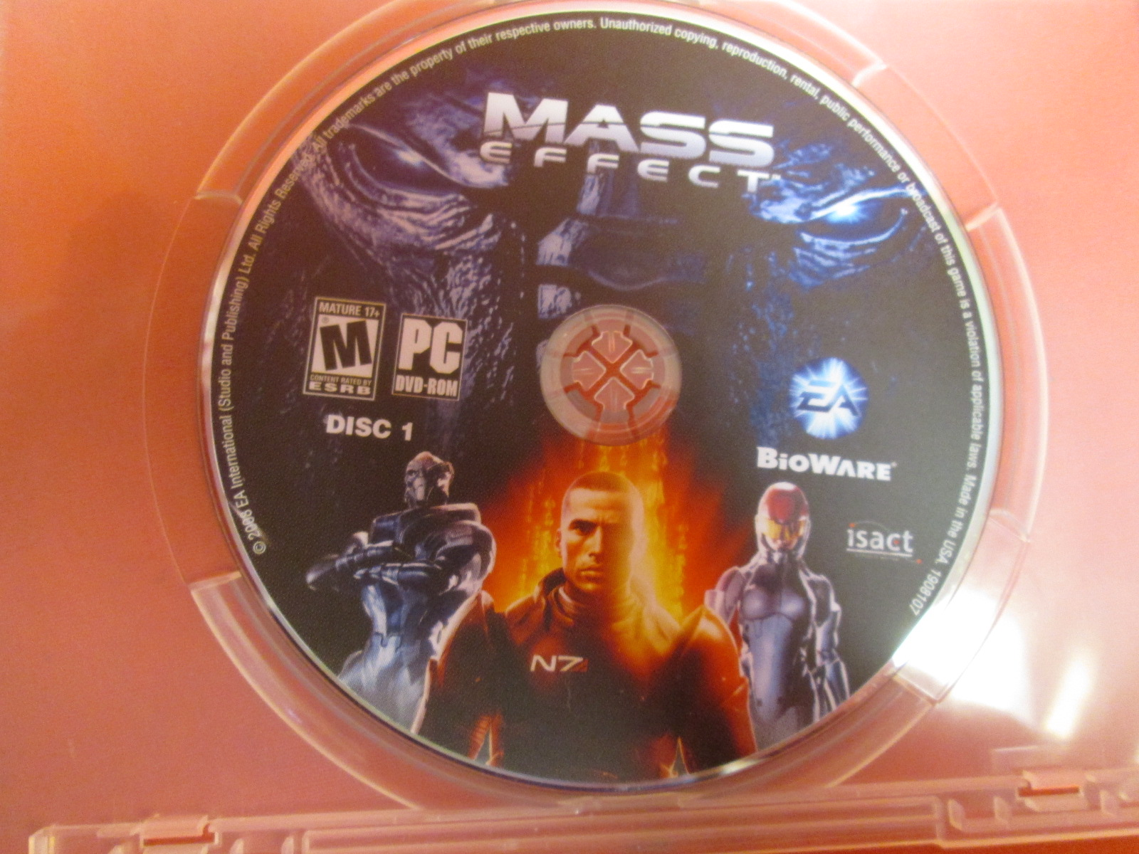 Replacement Disc 1 For Mass Effect For PC