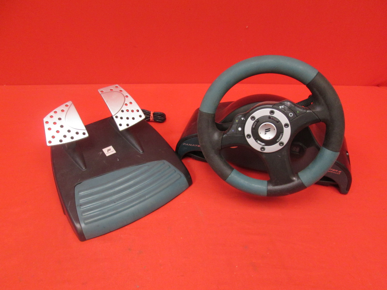 Fanatec Speedster 3 Steering Wheel And Pedals Forceshock For Xbox