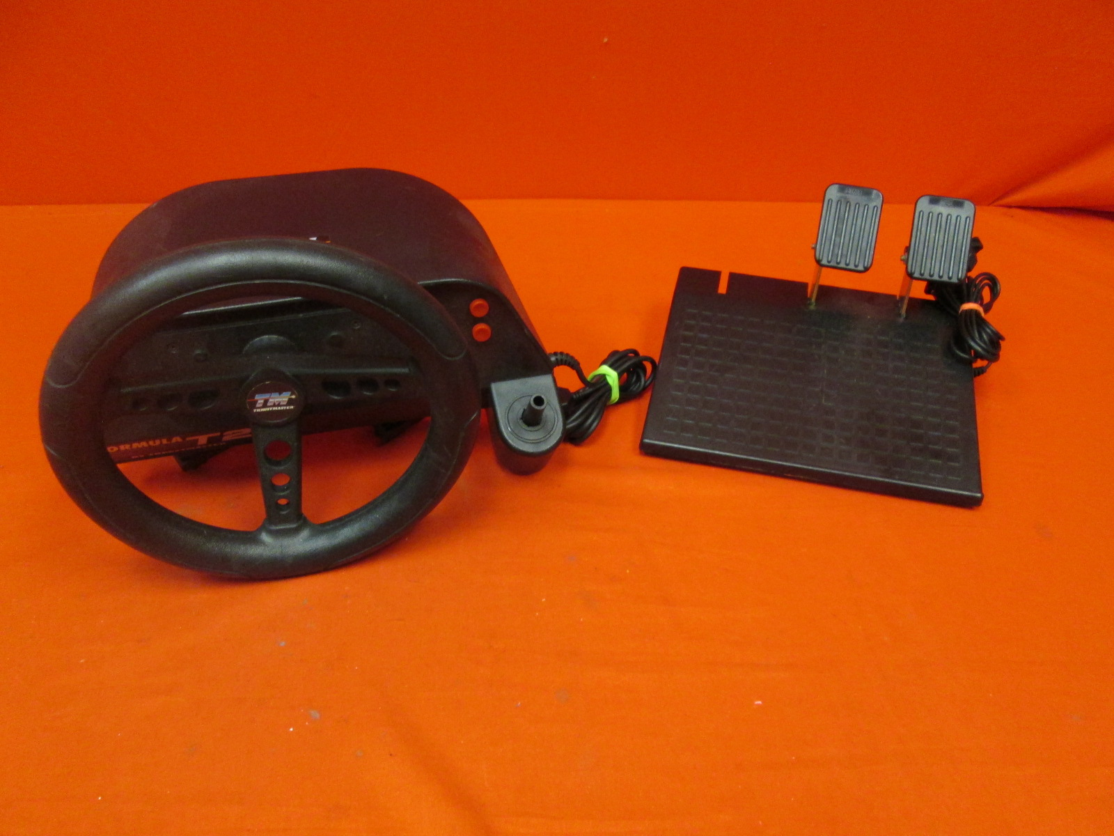 Vintage Thrustmaster Formula Racing T2 Steering Wheel And Pedals For