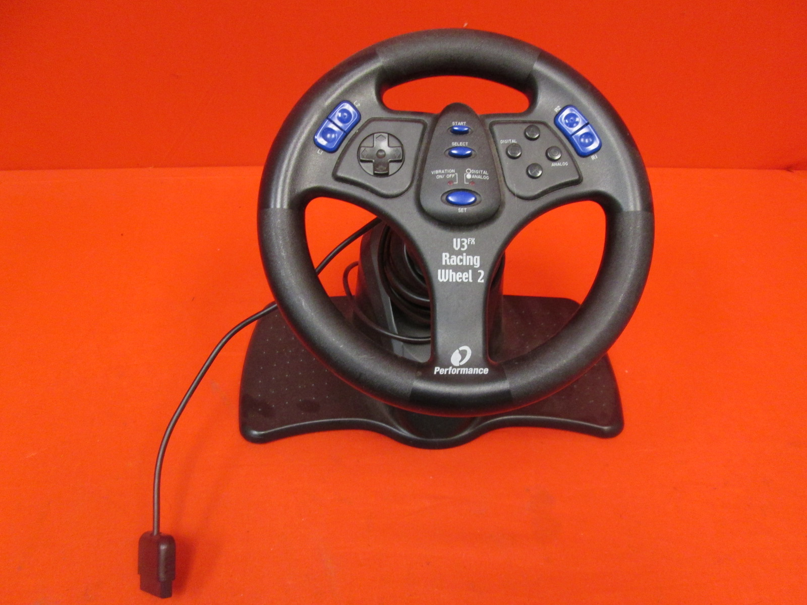 Performance V3FX Racing Wheel 2 For PlayStation 2 Incomplete