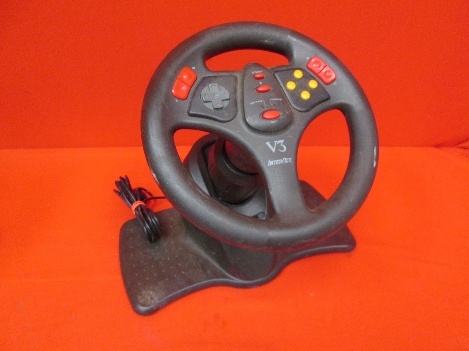 Interact V3 Racing Wheel Only Psx SV-1118 For PS1 PS2 Incomplete