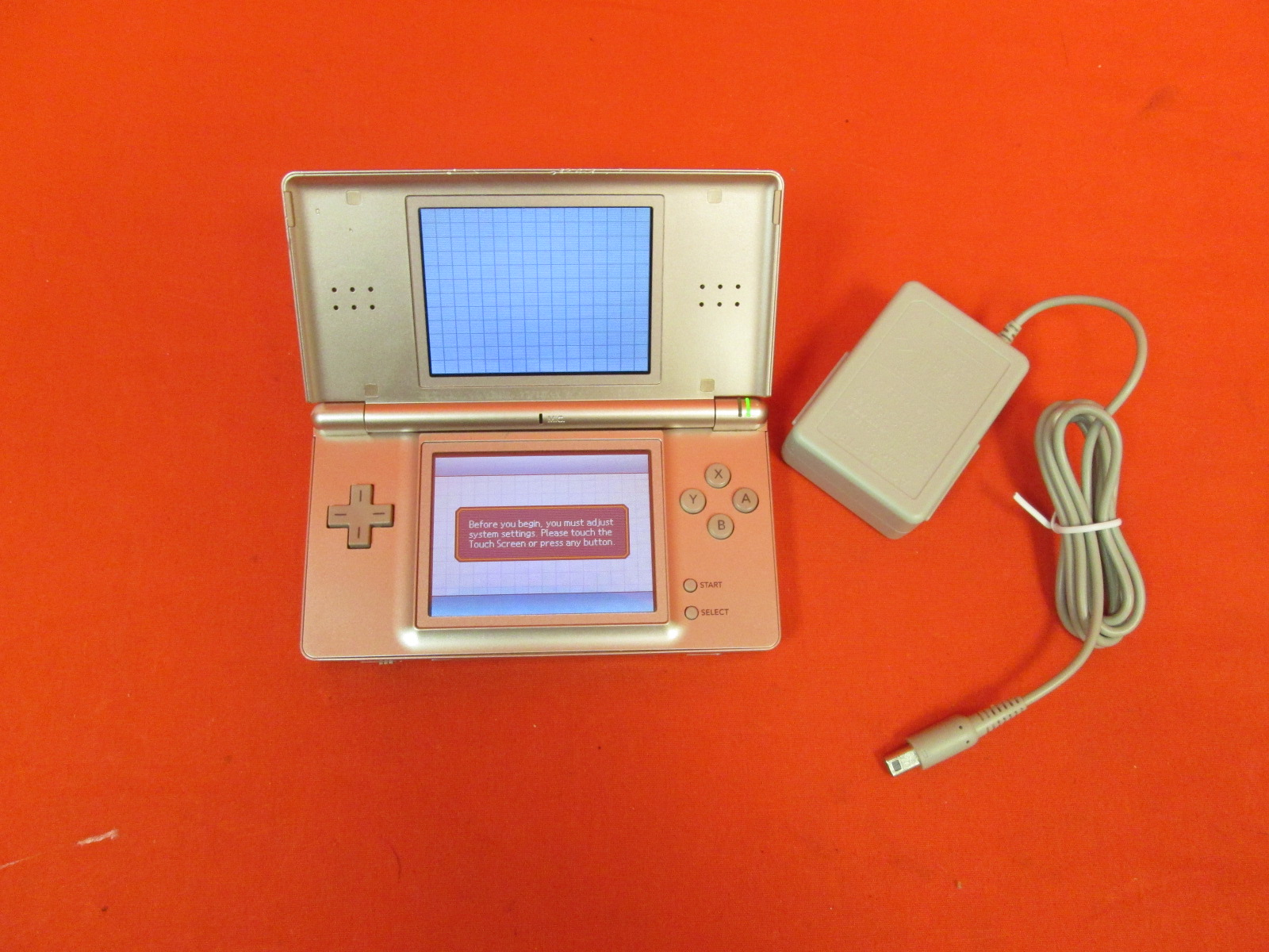 Nintendo DS Lite Coral Pink Handheld Video Game Console