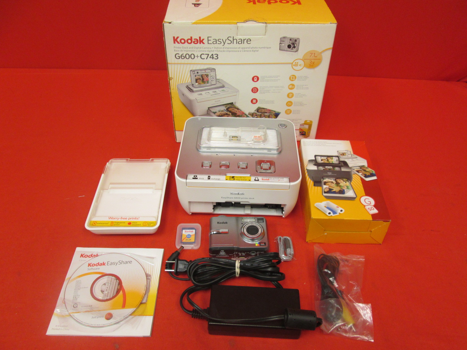 Kodak Easyshare C743 7 MP Digital Camera With 3XOPTICAL Zoom With G600