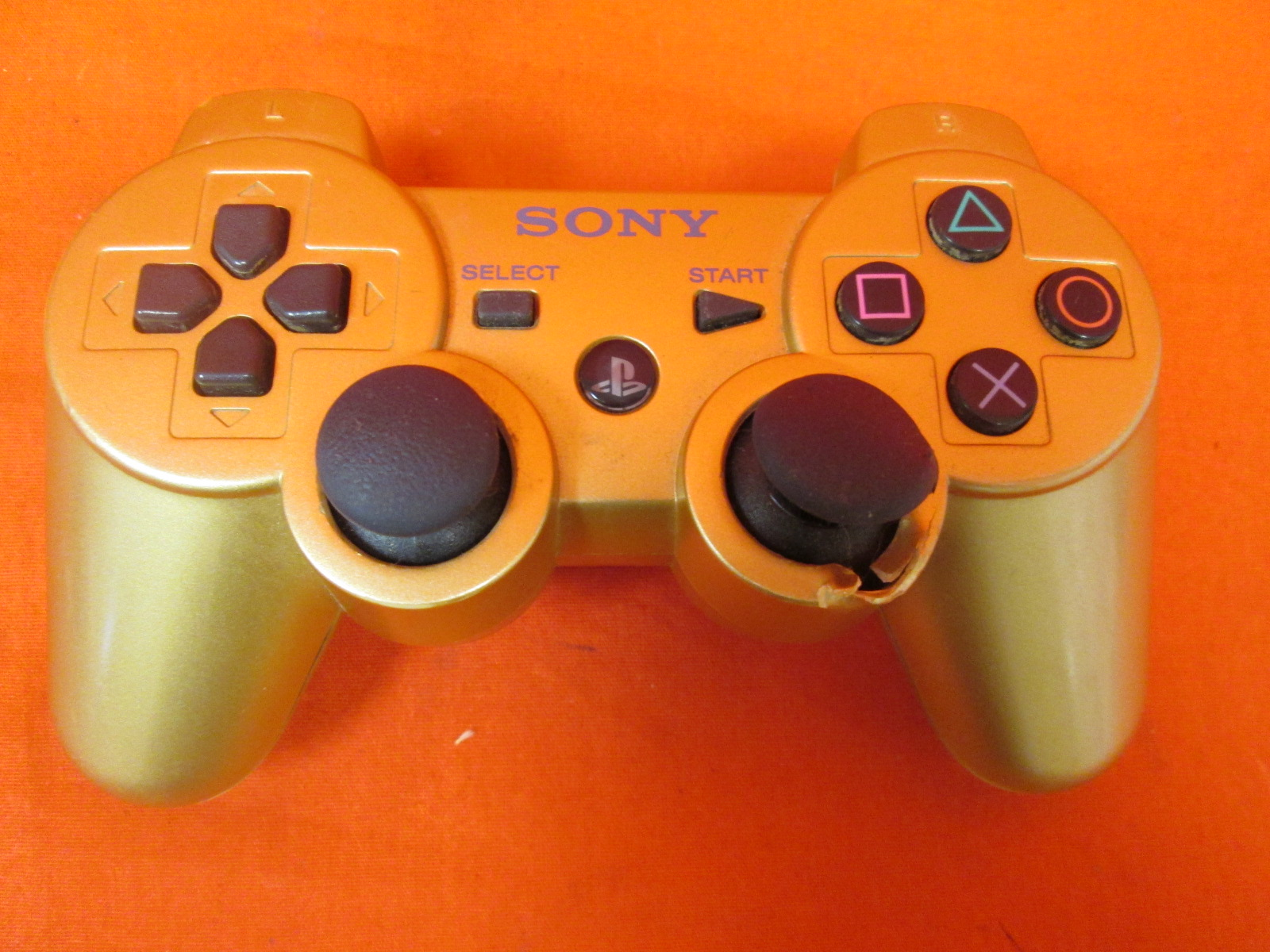 Image 0 of Sony Metallic Gold New PS3 Dual Shock Dualshock 3 Wireless Bluetooth
