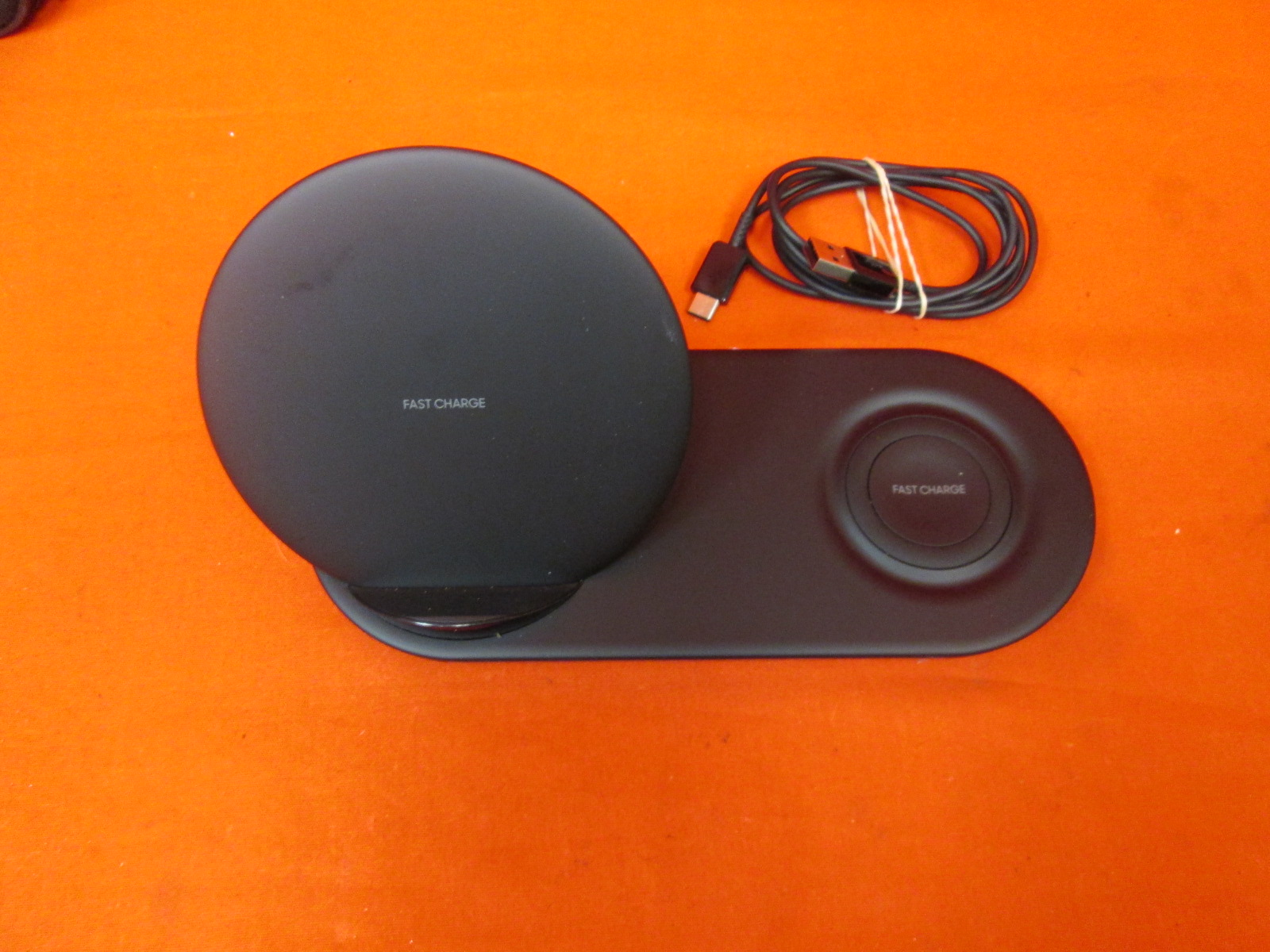 Image 0 of Samsung Qi Wireless Charger Duo Fast Charge Stand And Pad Incomplete
