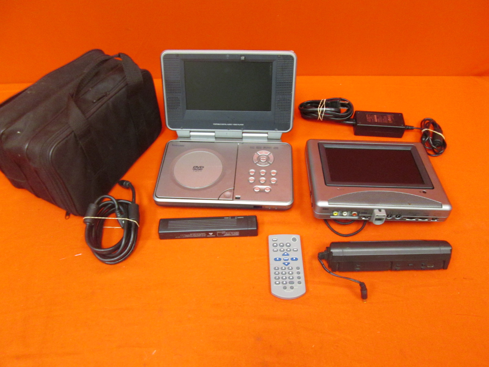 Image 0 of Venturer 7 Inch Portable DVD Player With Dual Screens Pvs 1977