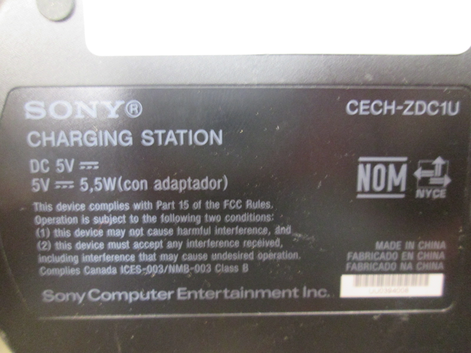 Image 1 of Sony CECH-ZDC1U Dual Charging Station For PlayStation 3 Controllers