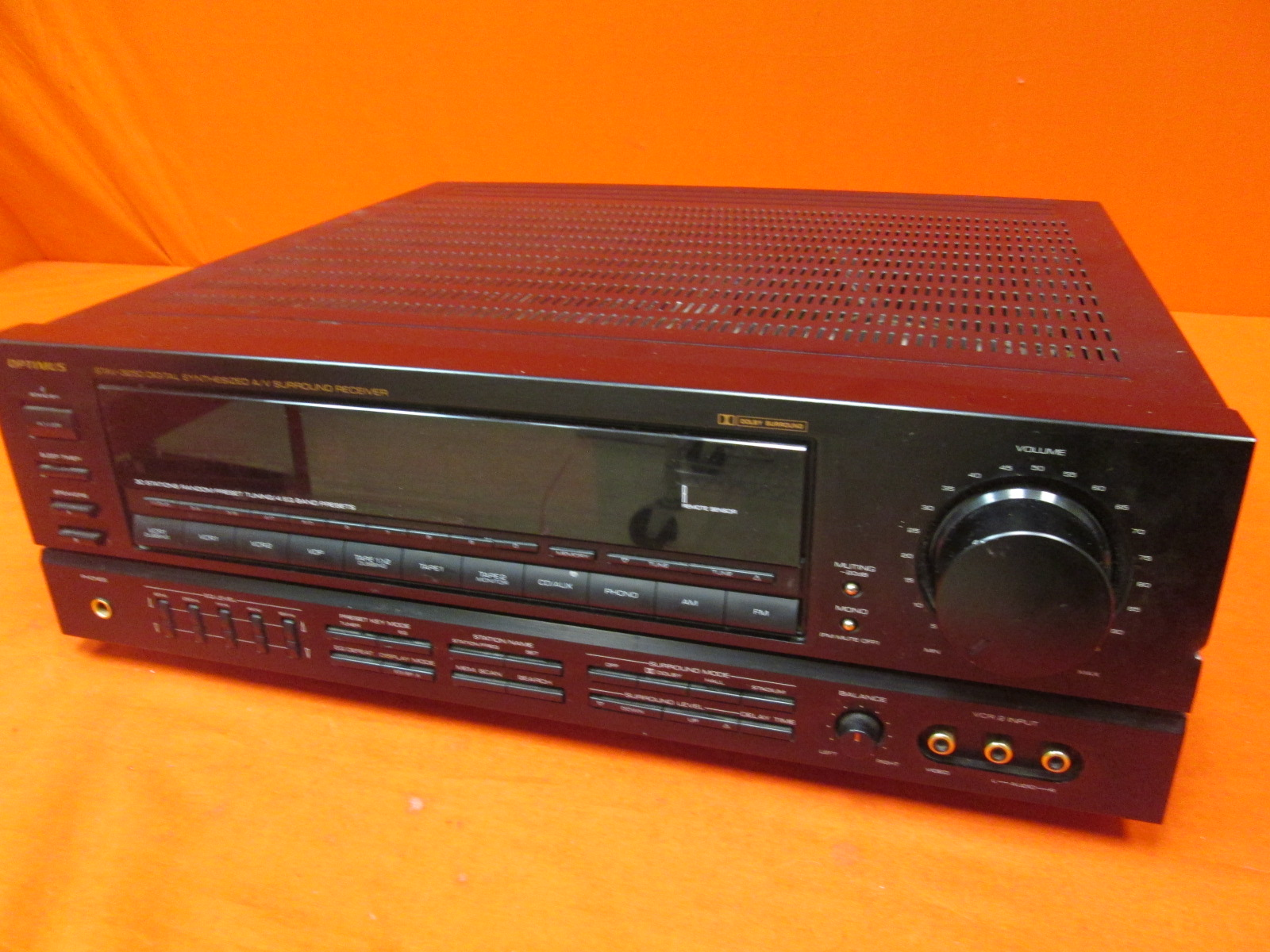 Broken Optimus STAV-3250 Sythesized Stereo Receiver With Equalizer
