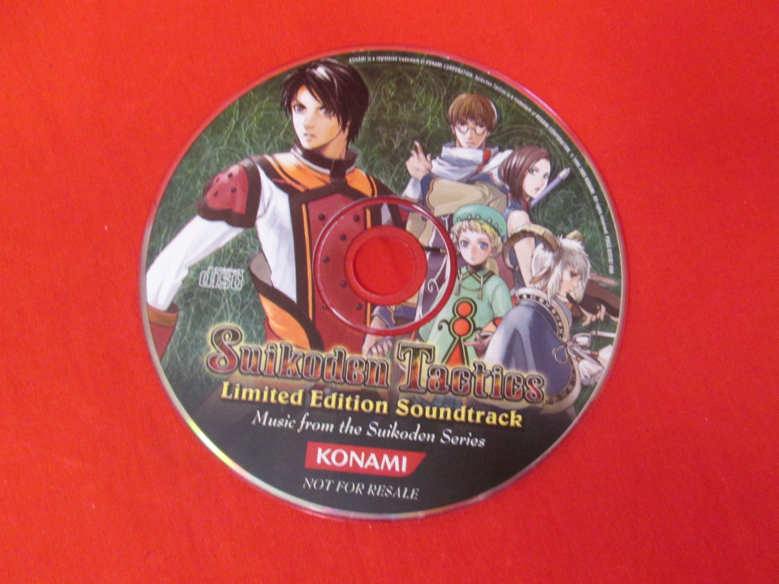 Suikoden Tactics Limited Edition Soundtrack Music CD