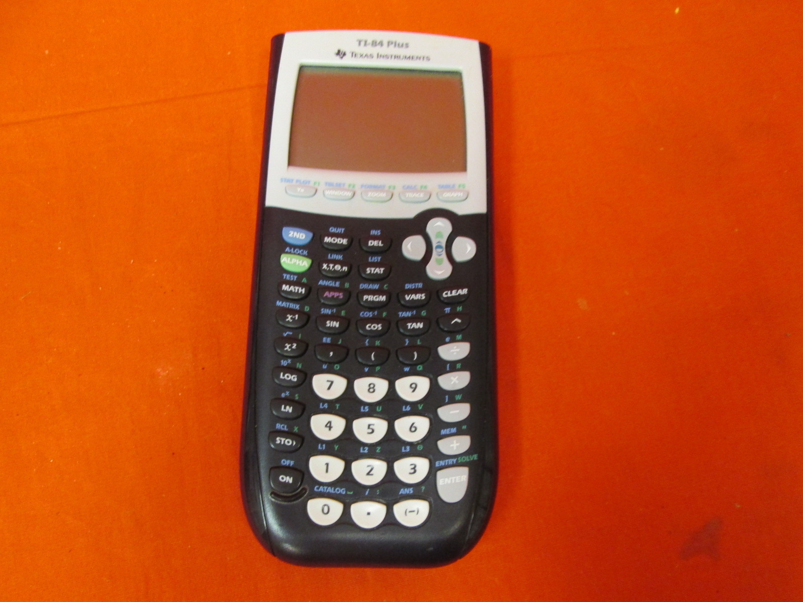 Broken Texas Instruments TI-84 Plus Graphics Calculator