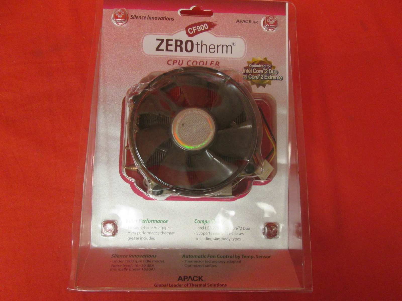 Apack Zerotherm CF900 Processor Cooler Socket 775 Aluminum With Copper