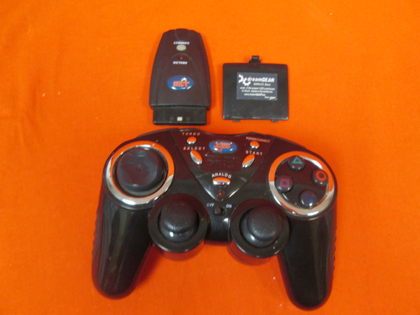 Dream Gear Black Wired Controller PlayStation PS2