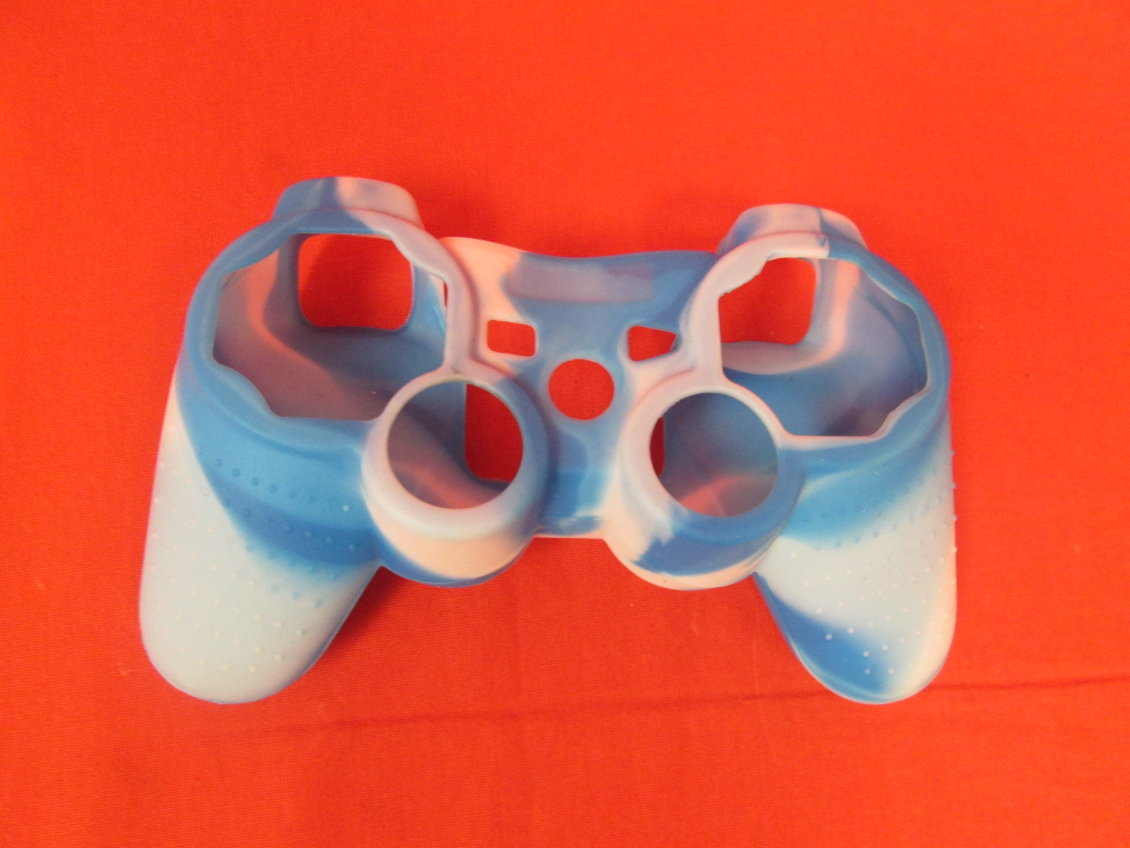 Neoprene Case Cover Skin For PlayStation 3 Controller Blue And White