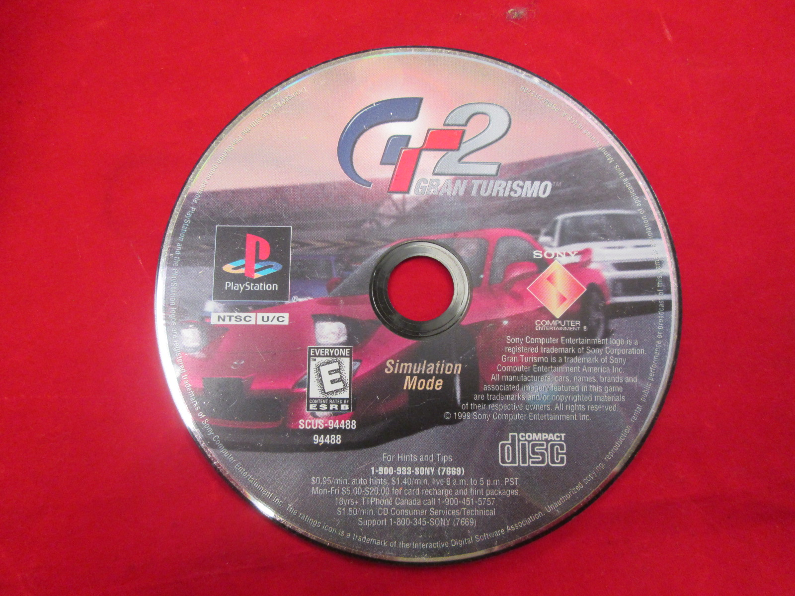 Replacement Simulation Disc For Gran Turismo 2 For PlayStation 1