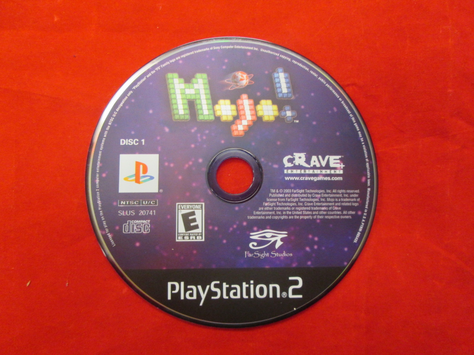 Replacement Disc 1 For Mojo For PlayStation 2 Incomplete