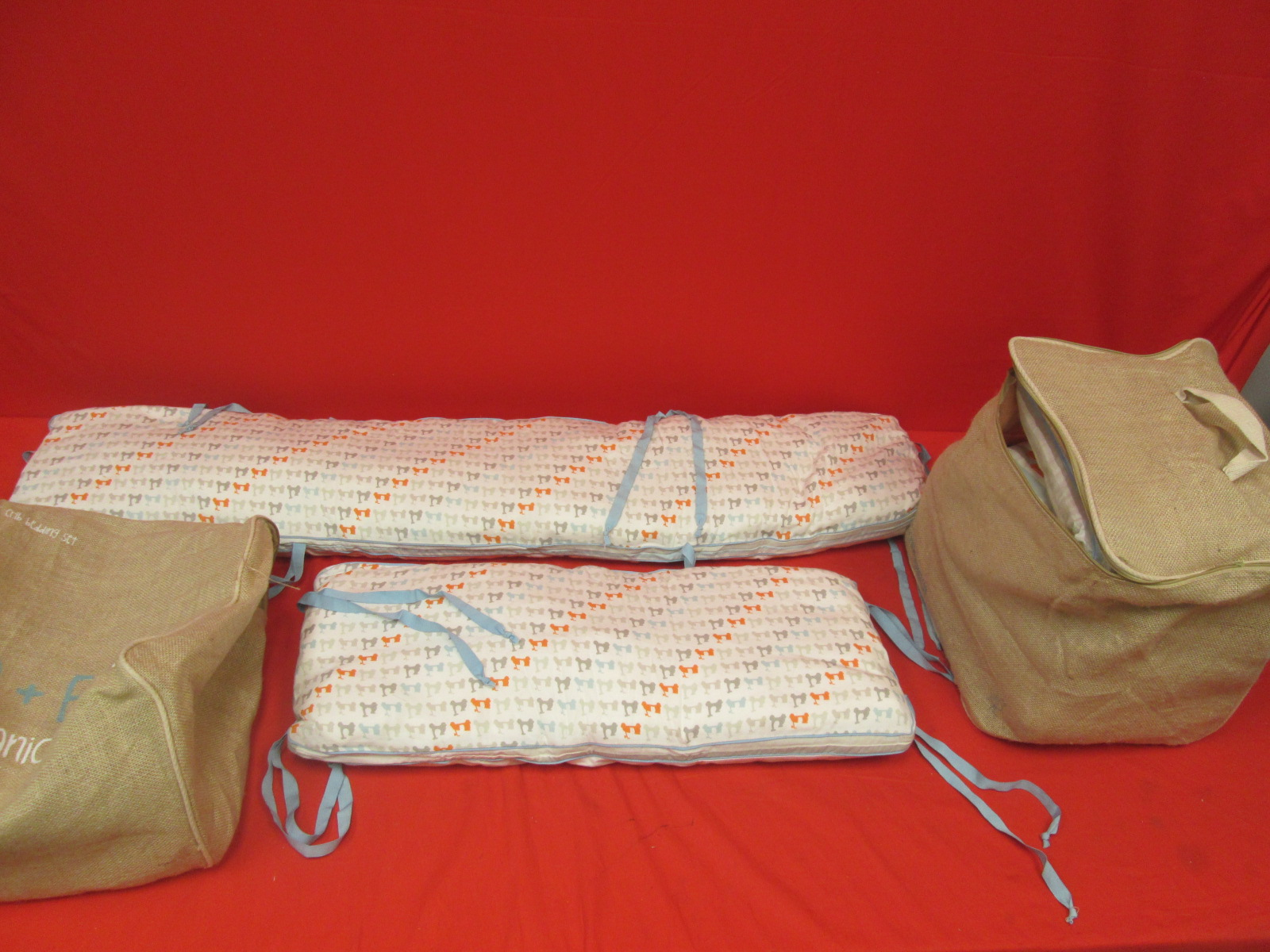 Finn Emma Organic Cotton Crib Set Without Bumpers Scooter Boy