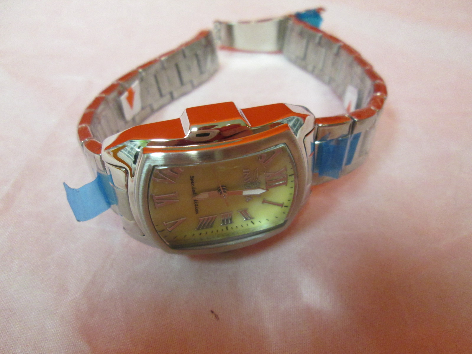 Invicta Lupah Model 19792 Stainless Steel Watch Untested