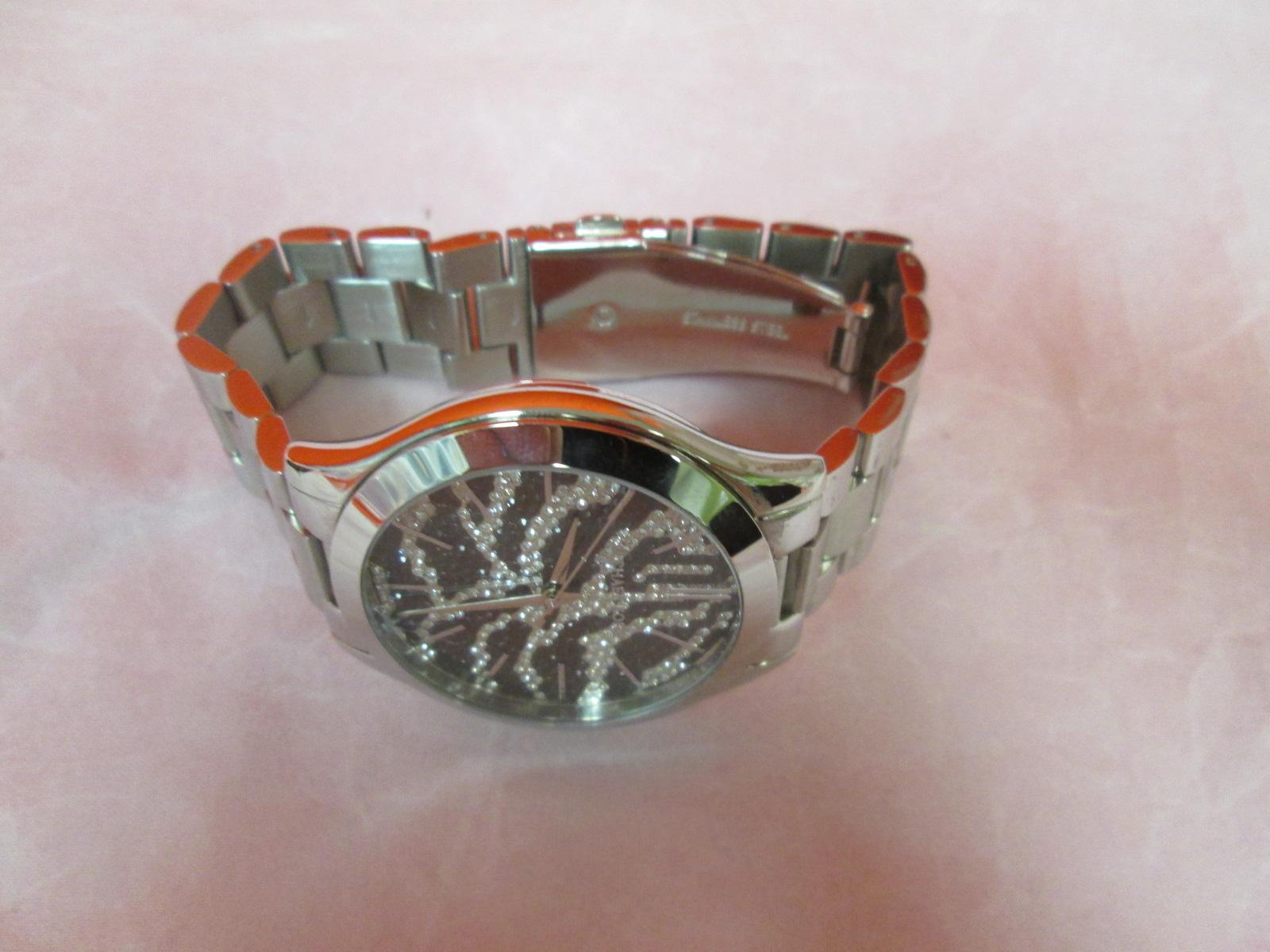 Michael Kors Zebra Animal Print Crystal Stainless Steel Ladies MK3314